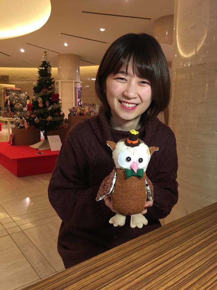 フェリシモ「福を呼ぶフクロウくん」とクリスマス展示は、あす12/26(木)まで開催中です