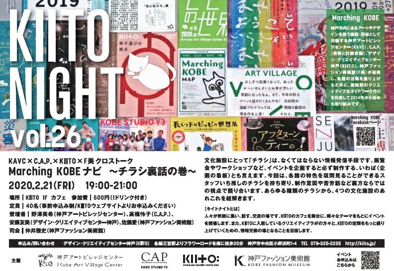 [4館連携] 2/21(金)19:00~ KAVC×C.A.P.×KIITO×F美によるクロストーク「Marching KOBE ナビ」を開催!