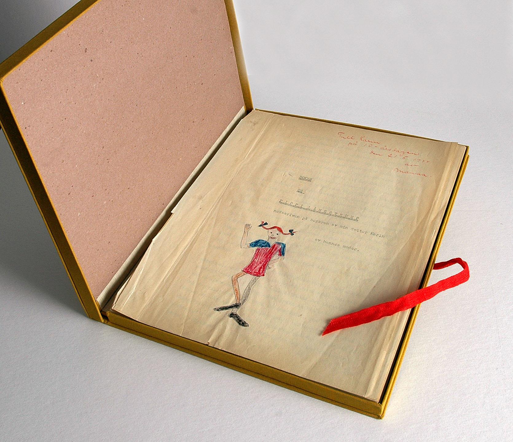 [長くつ下のピッピの世界展]見どころ解説 その1「オリジナル・ピッピ Ur-Pipp(i The original manuscript of Pippi Longstocking)」