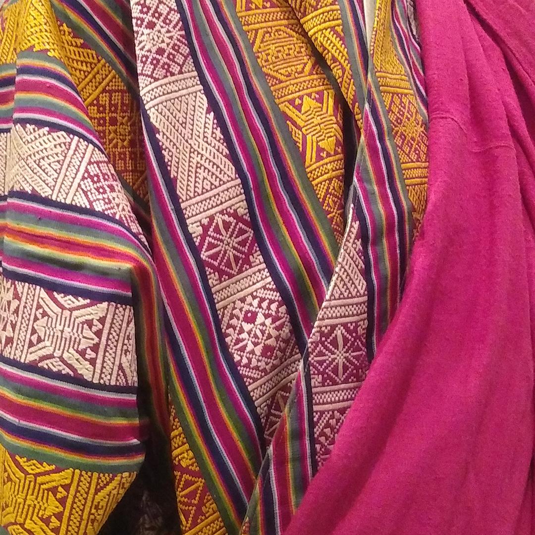 コレクション展「山に暮らす人びと」の見どころ③ 【ブータンの精緻な織物】