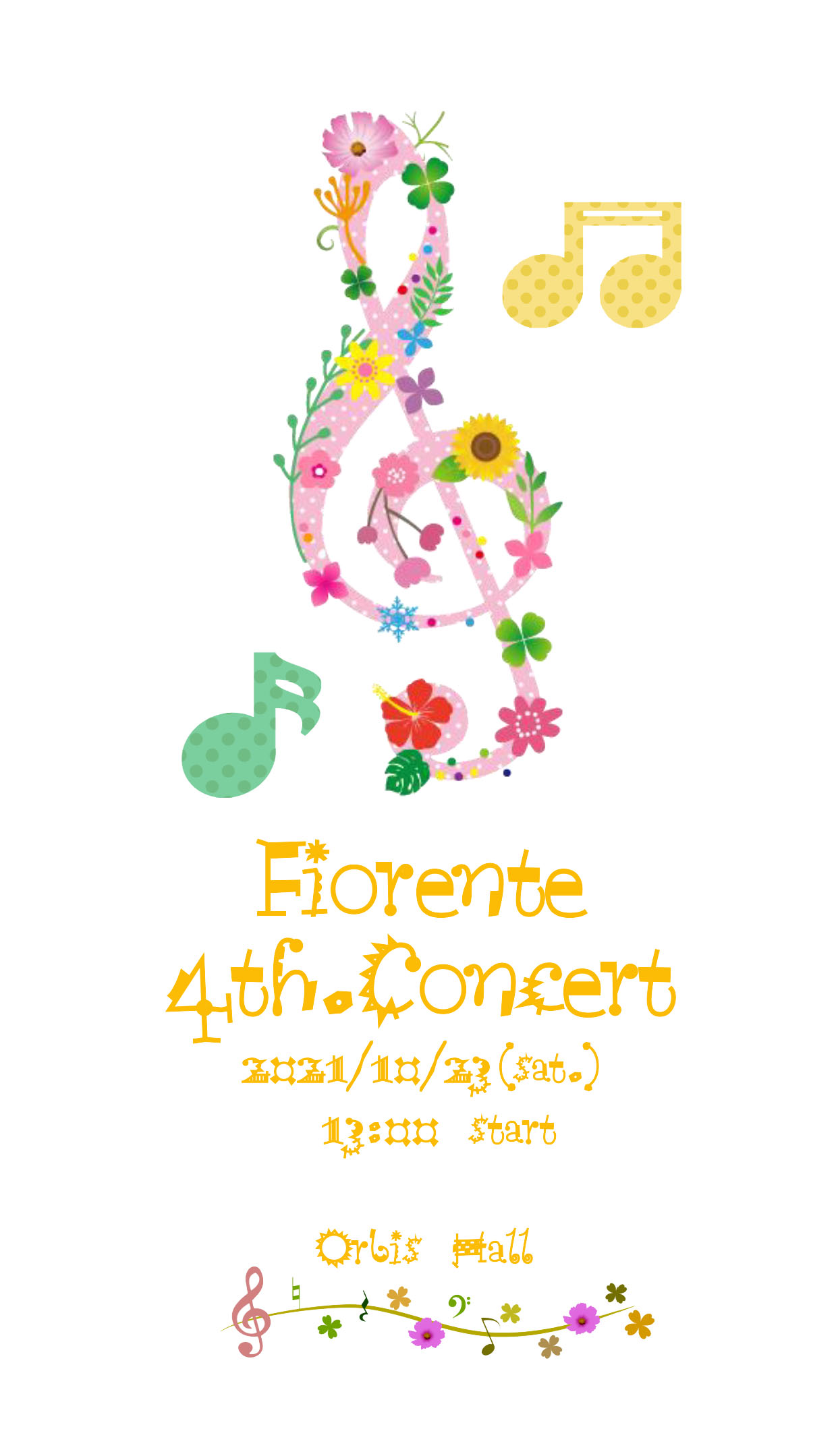 【オルビスホール情報】10/23(土) 「Fiorente 4th Concert」開催!